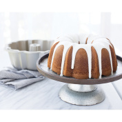 New Classic Silver Non Stick Aluminium Baking Cake Bundt Pan with Kitchen Tools Combo