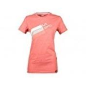 La Sportiva Womens Stripe Logo T-shirt - Cipria