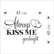 certainPL Always Kiss Me Goodnight Home Decor Wall Sticker Decal Bedroom Vinyl Art Mural