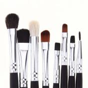 certainPL 8 Pcs Eye Shadow Brush Blending Beginner Foundation Cosmetic Tools