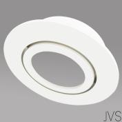 Recessed Spotlight Swivelling Cosmo Round Matt White Includes GU10 IP20 Ceiling Spotlight Recessed Ceiling Recessed Spotlight, X – Bulbs Not Included Modern 1er Set