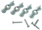 Stanley Hardware 76-2000 2.5cm - 1.9cm Full Turn Button - Zinc Plated 4 per Package by Stanley Hardware