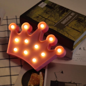 Wanshop® Battery Operated Crown Alphabet Lights LED Light Up White Plastic Letters Standing Hanging Plaque Decoration Gift
