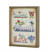 Heartfelt Collection Jim Shore Framed Print, Live-Laugh-Love