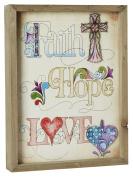 CB Gift Jim Shore Faith-Hope-Love Framed Print