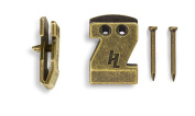 HangZ 40030B Flat Mount Sawtooth Picture Hooks (50 Pack), 9.1kg, Antique Brass