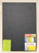 A4 Chalk & Board Set Eraser Blackboard Frame Office Kids Duster Children