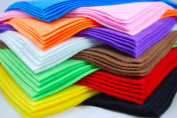 Assorted Pack of Acrylic Felt 10 sheets, A4 size