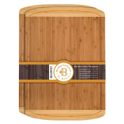 Extra Large Bamboo Cutting Board Set of 2, Kitchen Chopping Board, Wooden Cutting Board with Juice Grooves. By