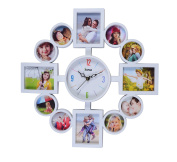 Arpan Photo Frame Clock, Multi Aperture Photo/Picture Frame Holds 12 Photos