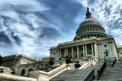 United States Capitol Building Under Blue Sky Photo Art Print Poster 46x30 cm