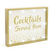 Cocktails Served Here LED Sign