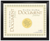 MBI by MCS Industries Extruded Document Frame, 22cm x 28cm , Black