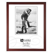Malden International Designs Dark Walnut Concept Wood Picture Frame, 8x10, Walnut