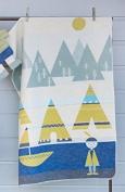 Fussenegger Children's Blanket Juwel L Indian L Flannel 70 L 90 Litre Blue