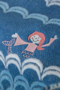 Fussenegger Juwel Baby Blanket 70 L Mermaid with Embroidery L Flannel L 90 L blue