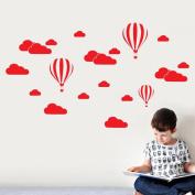 DIY Large Clouds Balloon Wall Decals Children's Room Home Sticker Decoration Art