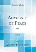 Advocate of Peace, Vol. 91