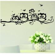 QUINTRA 2018 Kids Vinyl Art Cartoon Owl Butterfly Wall Sticker Decor Home Decal
