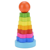 Kofun Rainbow Tower Stacking Nest Wooden Toy Educational Puzzle Toy