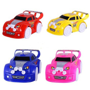 Merssavo LED Light Flashing Music Racing Car Kid Baby Toy Automatic Steering Electric Car