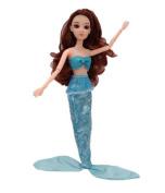 Mermaid Princess Doll Pack for Little Girl's Toy / Doll Dress,E