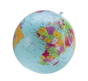Political Globe Beachball, English, 40cm