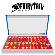 econoLED Rulercosplay Fairy Tail Lucy New Collection Set Golden Zodiac Keys + Play Key Chain US Seller