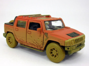 Hummer H2 SUT 1/40 Scale Diecast Metal Model - RED/MUDDY