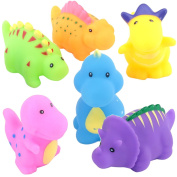 SainSmart Jr. Bathtub Toys Dinosaur Baby Bath Toys Children Days Gift, Kids Fun Squirt Toys Floating Bathroom Toys Organiser 6PCS