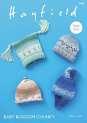 Hayfield Baby Blossom Chunky Knitting Pattern - 4865 Chunky Hats