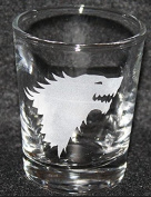Game of Thrones GOT Wolf House Stark Inspired Logo Shot Glass Laser Engraved