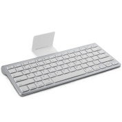 OMOTON Bluetooth Keyboard with Stand for Apple iPad Air, iPad Mini, iPad Pro and other iOS Devices, Apple Edition, White