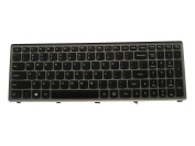 LotFancy Black with Silver-Grey Frame keyboard for IBM Lenovo Z500 ; fit part numbers 9Z.N8RSC.401 NSK-BF4SC 01 T6F1-US 25206237 PK130SY1F00 Laptop / Notebook US Layout