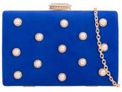 Girly HandBags Beaded Suede Clutch Bag