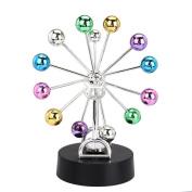 huichang Electronic Ball Ferris Wheel Perpetual Motion Instrument Desk Revolving Balance Balls Physics Science Toy