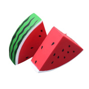 huichang Red Squishy Watermelon Slow Rising Cream Scented Decompression Toys Gift
