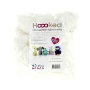 Hoooked Recycled Super Fluffy Filling, Cotton, White, 19.5 x 9 x 9 cm