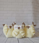 KNITTING PATTERN 3 Wise Owls Soft Toy From Knitting by Post