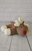 KNITTING PATTERN Lazy Reindeer Soft Toy From Knitting by Post
