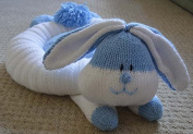 KNITTING PATTERN Rabbit Snuggler Pet Bed/Child's Cushion From Knitting by Post