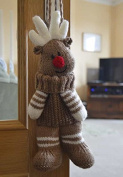 KNITTING PATTERN Reindeer Baggles Gift Bag From Knitting by Post