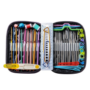 Crochet Hooks Set , AnTom 49pcs Knitting Tool Accessories with Leather Case