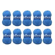 Distrifil – 10 x 50g balls of Azurite Distrifil 0151 Cheap 100% Acrylic Knitting Wool – 0151