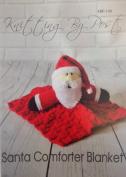 KNITTING PATTERN Santa Comforter Blanket From Knitting by Post