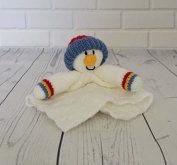 KNITTING PATTERN Snowman Comforter Blanket From Knitting by Post