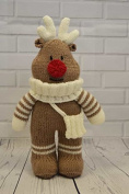 KNITTING PATTERN Festive Friends Reindeer Soft Toy From Knitting by Post