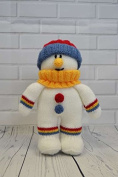 KNITTING PATTERN Festive Friends Snowman Soft Toy From Knitting by Post