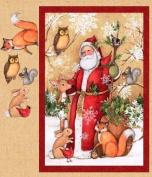Old World Santa Quilting Panel