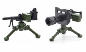 Mini Figures Machine Guns Gun Pack Military Weapons Machine gun War Guns Accessories Building Bricks Soldier Building Blocks . Minifigures